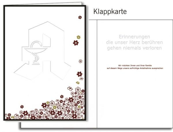 Grußkarten-Set 20 - Trauer / mit Prägung