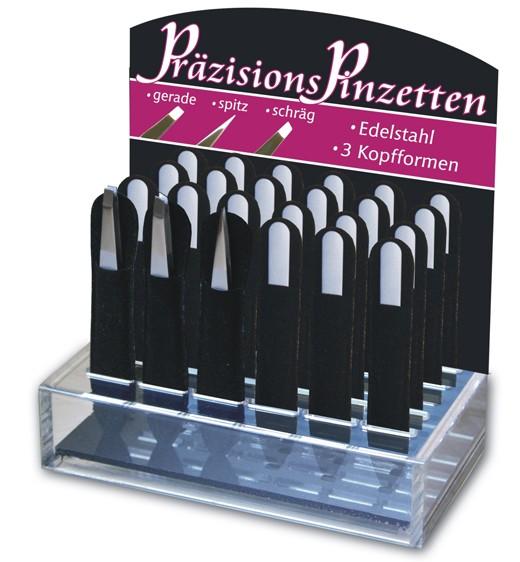 Präzisions-Pinzette aus Edelstahl, matt