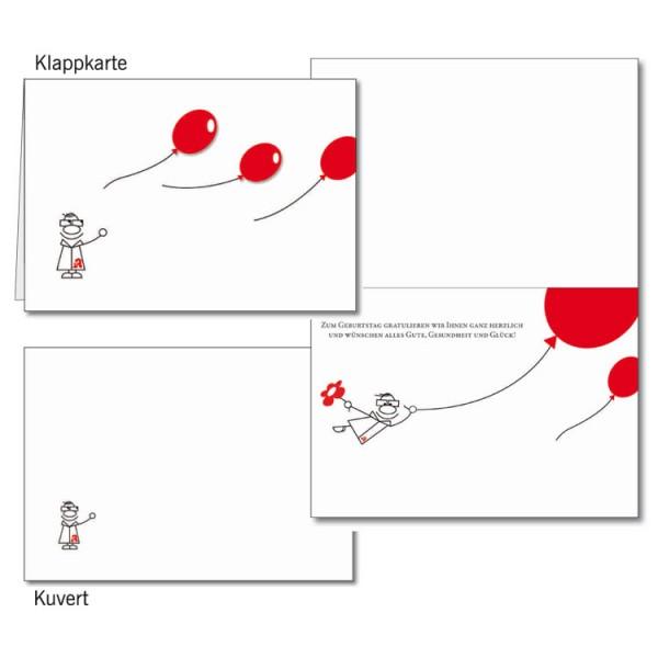 Grußkarten-Set 06 - Glückwunsch 3D