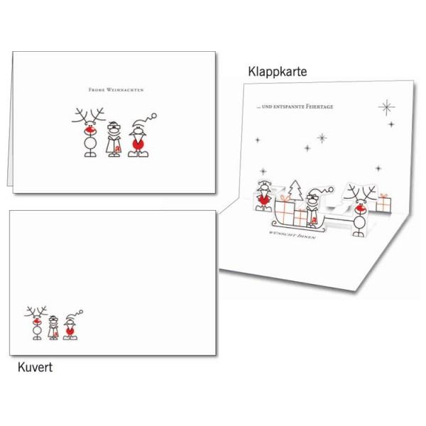 Grußkarten-Set 10 - Weihnachten Popup