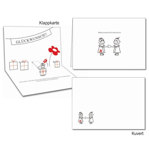 Grußkarten-Set 05 - Glückwunsch Popup