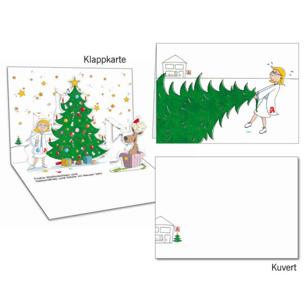 Grußkarten-Set 22 - Weihnachten Popup