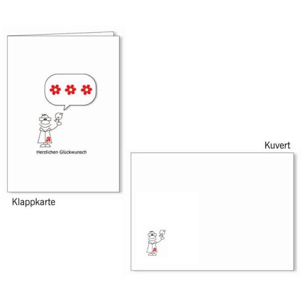 Grußkarten-Set 17 - Glückwunsch 3D