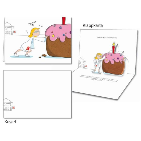 Grußkarten-Set 11 - Glückwunsch Popup