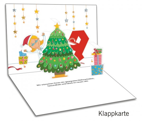 Grußkarten-Set 30 - Weihnachten Popup