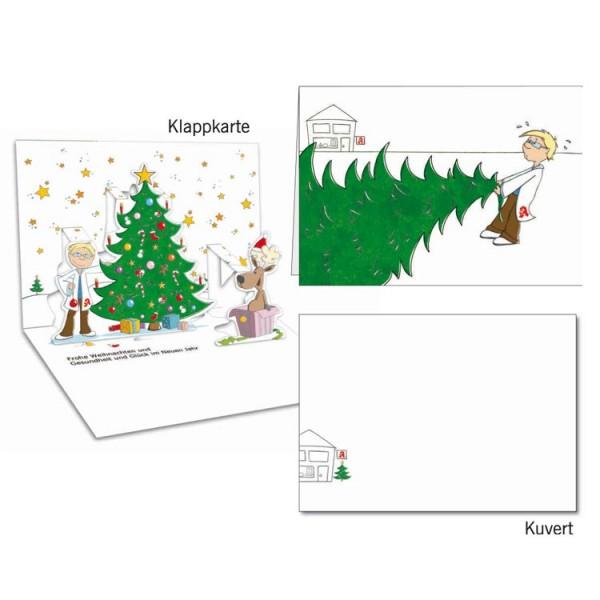 Grußkarten-Set 23 - Weihnachten Popup