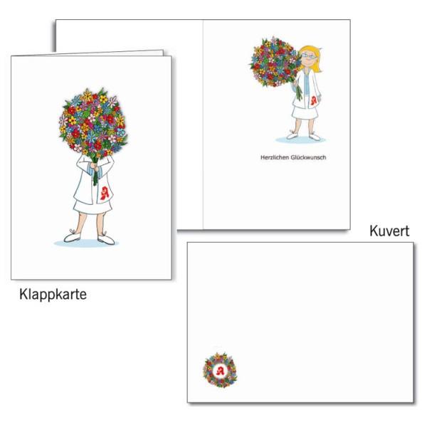 Grußkarten-Set 19 - Glückwunsch 3D
