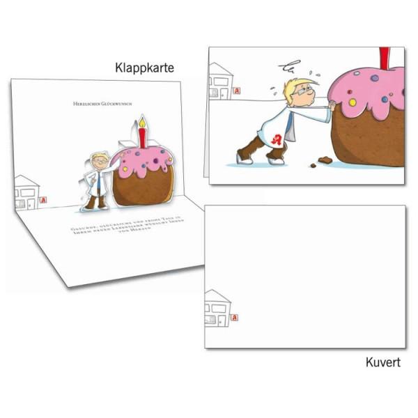 Grußkarten-Set 09 - Glückwunsch Popup